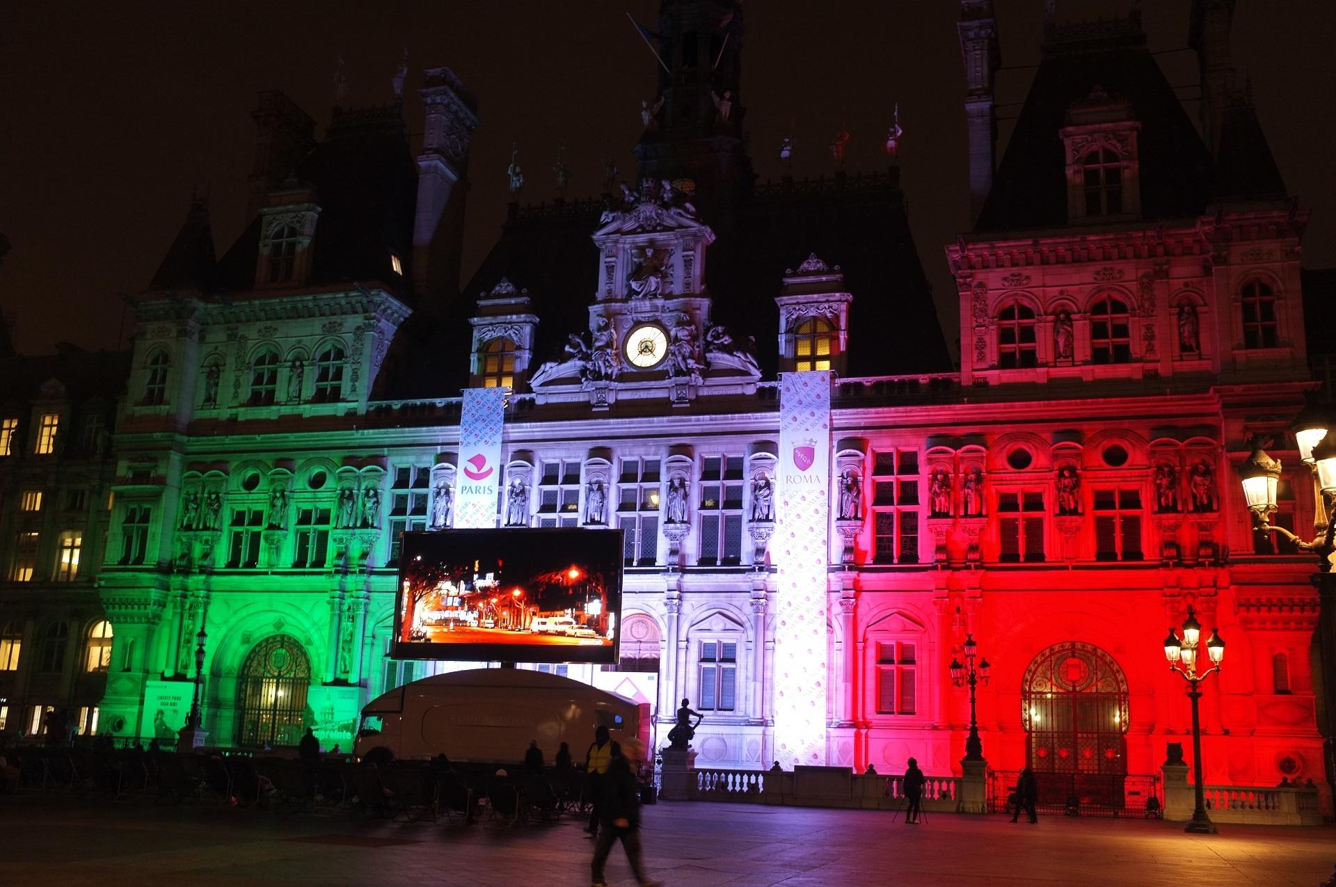 Videlio events illumine l h tel de ville de paris pour for Hotel paris pour 2 heures